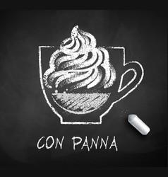 sketch of con panna coffee vector image