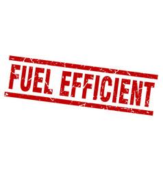 Square grunge red fuel efficient stamp vector