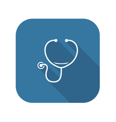 Stethoscope and medical services icon vector