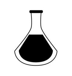 Test tube or flask icon image vector