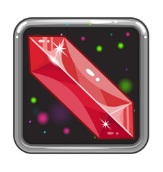 the application icon with gem vector image