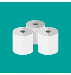 Three toilet paper rolls vector