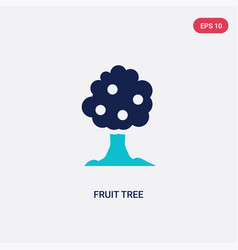 two color fruit tree icon from ecology concept vector image