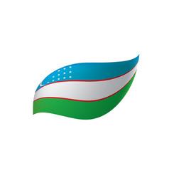 Uzbekistan flag vector