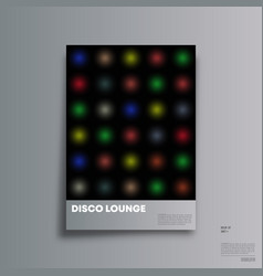 vintage disco background for banner party vector image