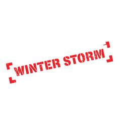 Winter storm rubber stamp vector