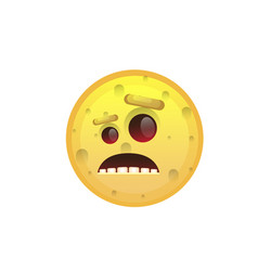 Yellow smiling face disappointed negative people vector