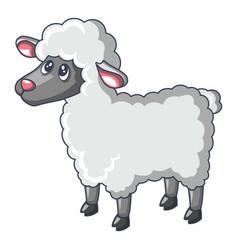 young sheep icon cartoon style vector image