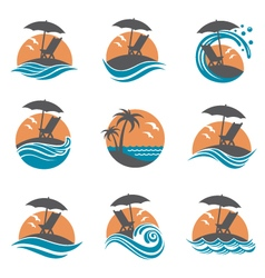 emblems set of summer vacation vector image vector image