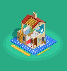 Home Repair Isometric Template vector image