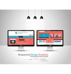 Modern Flat Style UI interface designs vector image