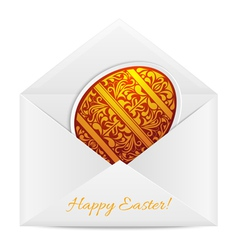Paper envelope with a easter egg vector