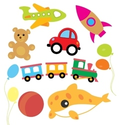Set of child and kids toys vector image vector image