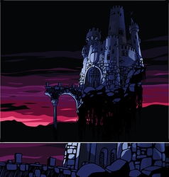 Dark Castle vector image vector image