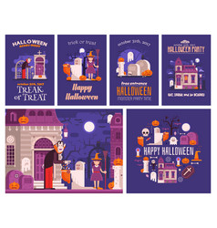 halloween backgrounds and cards vector image vector image