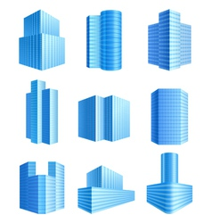 office buildings vector image vector image