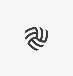 Abstract linear infinity shield logo design vector