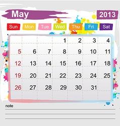 Calendar May 2013 vector image