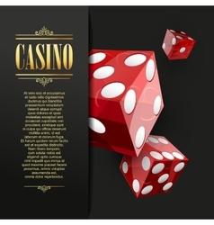 Casino background Poker vector image vector image