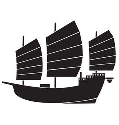 chinese or asian junk vector image vector image