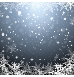 Christmas snowflakes on gray background vector image