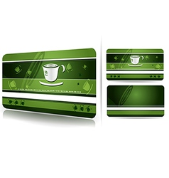 Green business card design vector image vector image