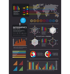 iinfographics set and Information vector image