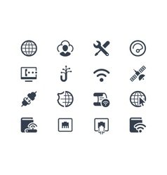 Internet and provider icons vector image