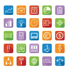 Set of colored icons a business and office vector image vector image