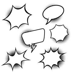 set of comic style speech balloons design vector image