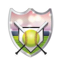 Softball Badge Emblem vector image