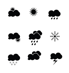 weather icon black vector image