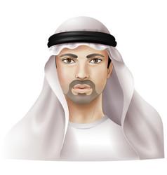 Arab man vector image vector image