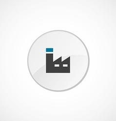 factory icon 2 colored vector image vector image