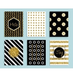 Gold white and black gift card template with vector