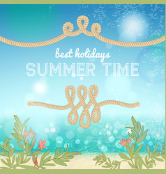 holiday summer background vector image vector image