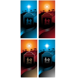 nativity vertical banners vector image vector image