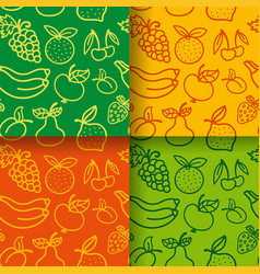 seamless pattern of fruits vector image