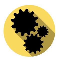 settings sign flat black vector image