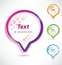 speech bubbles icons set vector image vector image