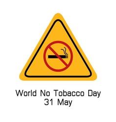 world no tobacco day smoking warning vector image