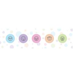 5 mood icons vector