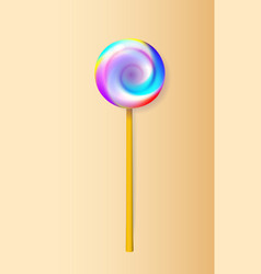 a good lollipop candy on stick with twisted vector image