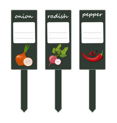 a set of labels for your seedlings place for your vector image