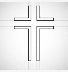 Abstract cross christian symbol sign lines vector