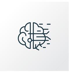 artificial intelligence icon line symbol premium vector image