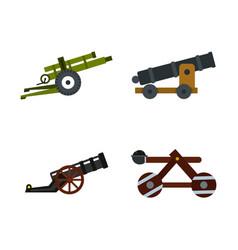 Assault machine icon set flat style vector