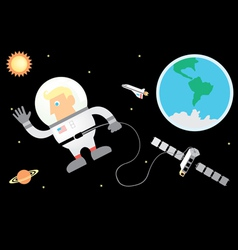 Astronaut and Space vector