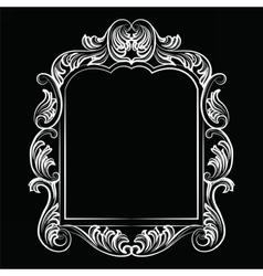 Baroque Rococo Mirror frame vector image