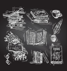 beautiful hand drawn set of vector image